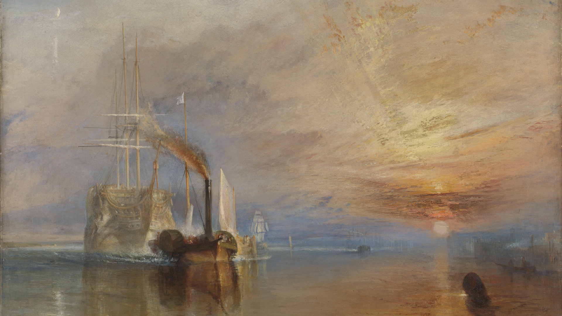 NG0524 - Joseph Mallord William Turner. The Fighting Temeraire. 1839. © The National Gallery, London