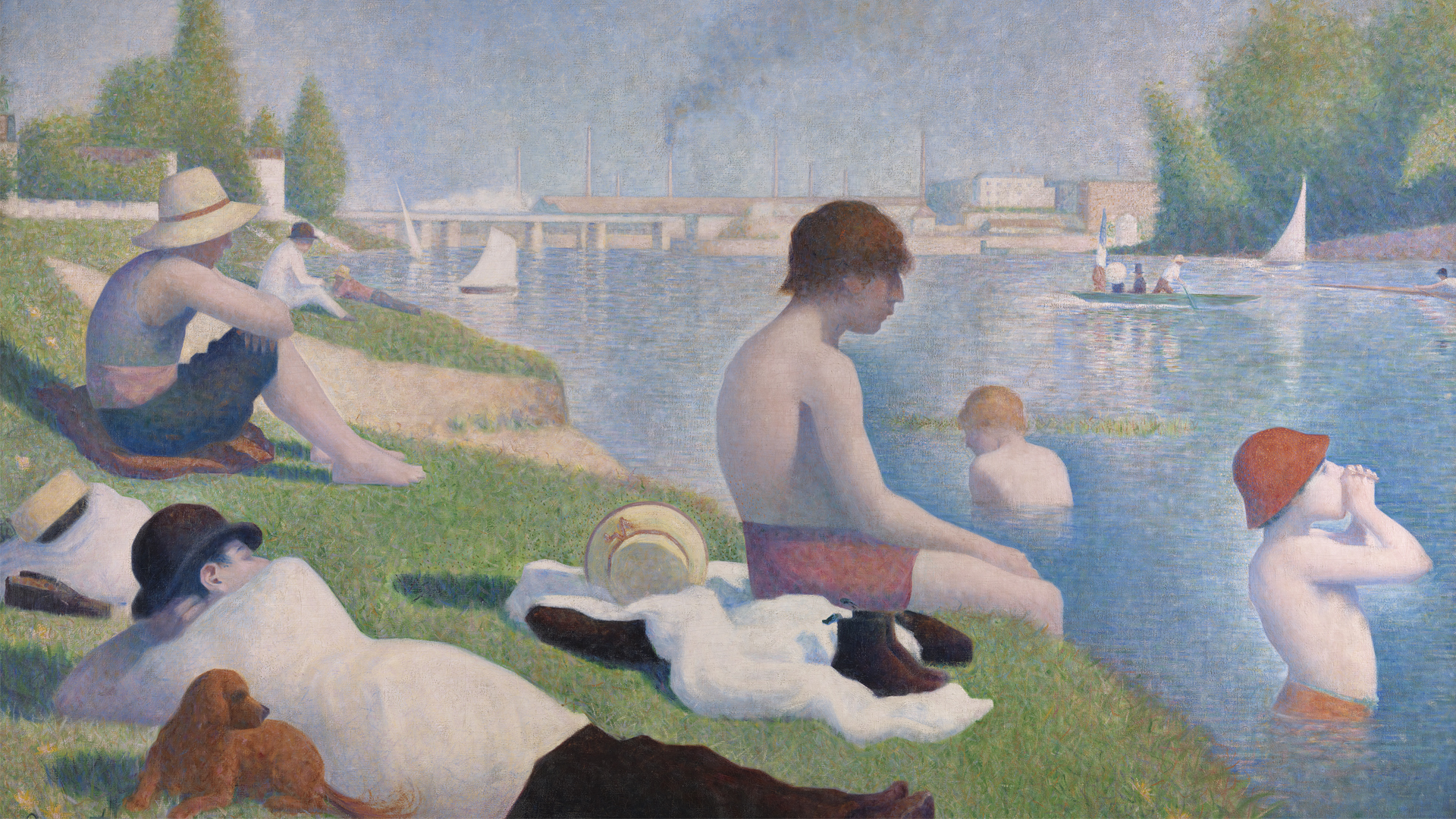 NG3908 - Georges Seurat. Bathers at Asnières. 1884. © The National Gallery, London