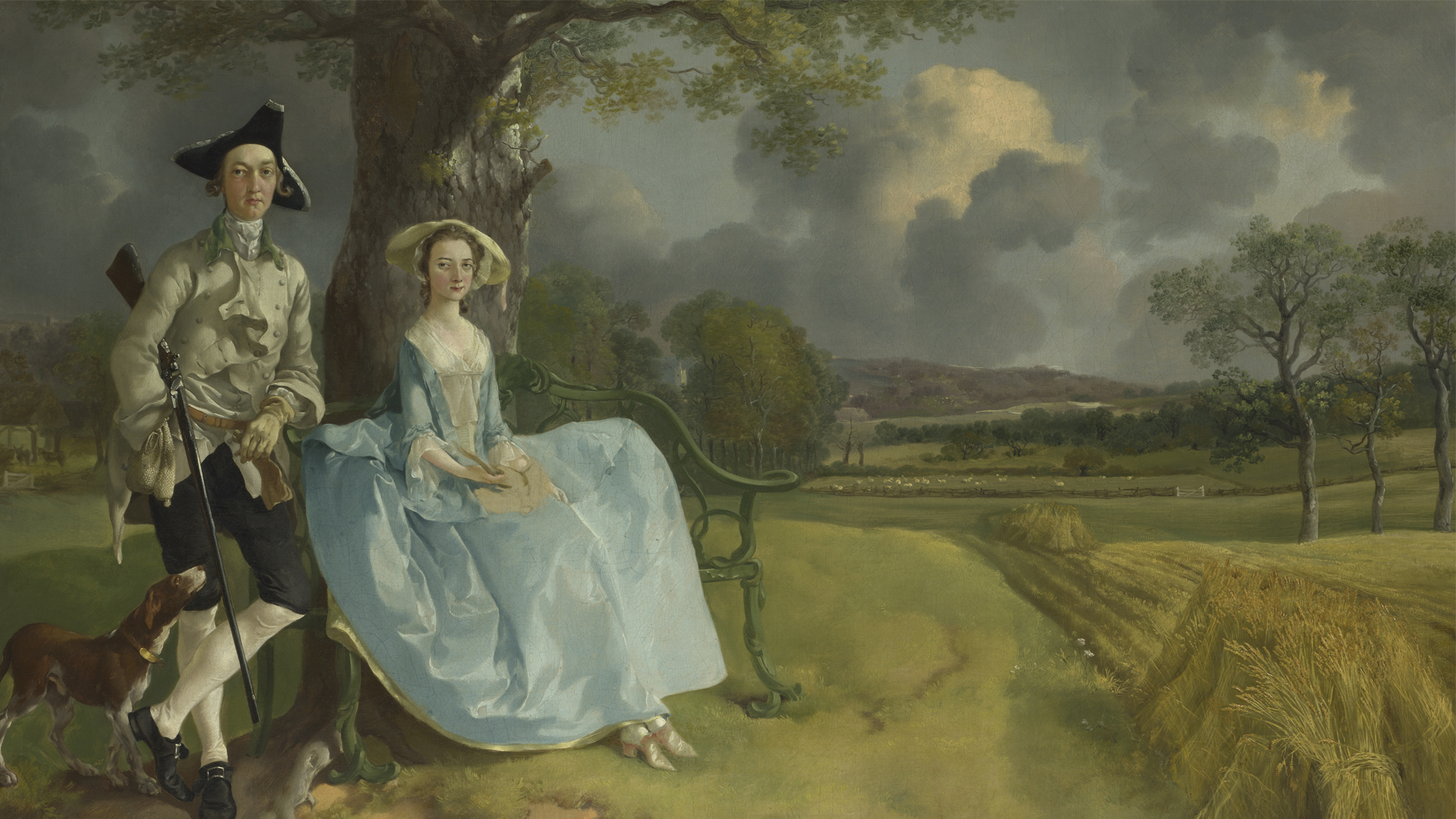 NG6301 - Thomas Gainsborough. Mr and Mrs Andrews. About 1750. © The National Gallery, London