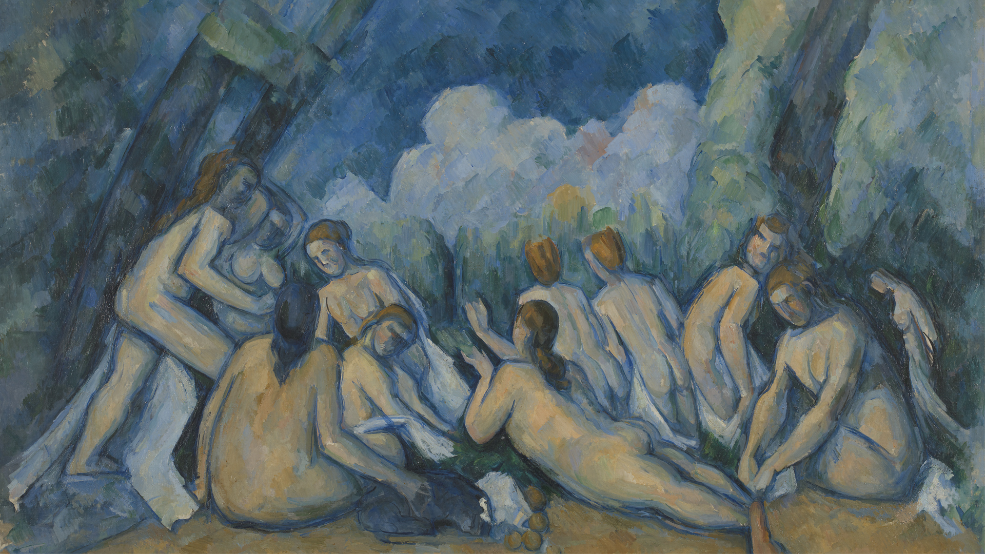 NG6359 - Paul Cézanne. Bathers (Les Grandes Baigneuses). About 1894-1905. © The National Gallery, London